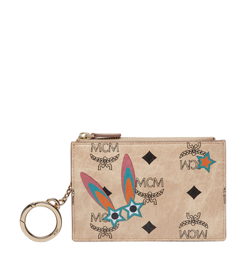 MCM Star Eyed Bunny Keycase in Visetos MYZ8SME06IG001 AlternateView