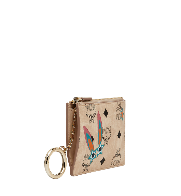 MCM Star Eyed Bunny Keycase in Visetos MYZ8SME06IG001 AlternateView2