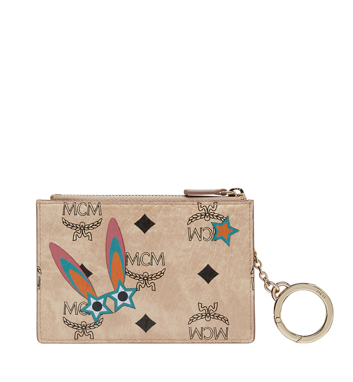 MCM Star Eyed Bunny Keycase in Visetos MYZ8SME06IG001 AlternateView3