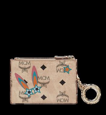 MCM Star Eyed Bunny Keycase in Visetos MYZ8SME06IG001 AlternateView3