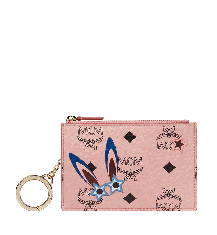MCM Star Eyed Bunny Keycase in Visetos Alternate View