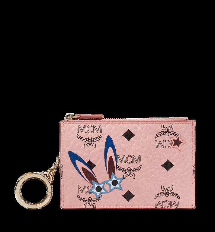 MCM Star Eyed Bunny Keycase in Visetos MYZ8SME06PZ001 AlternateView