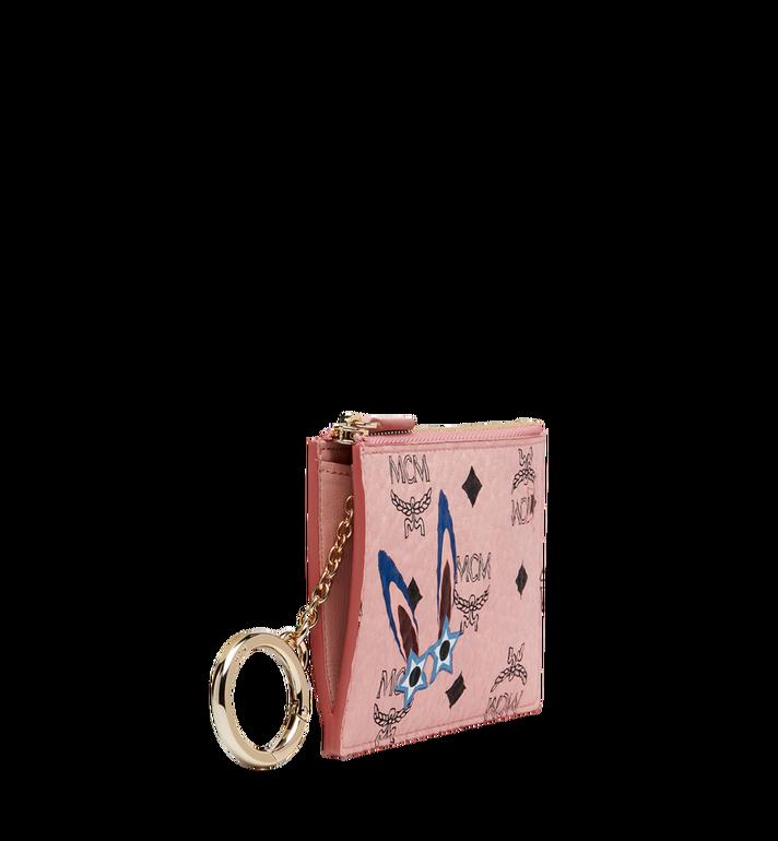 MCM Star Eyed Bunny Keycase in Visetos MYZ8SME06PZ001 AlternateView2