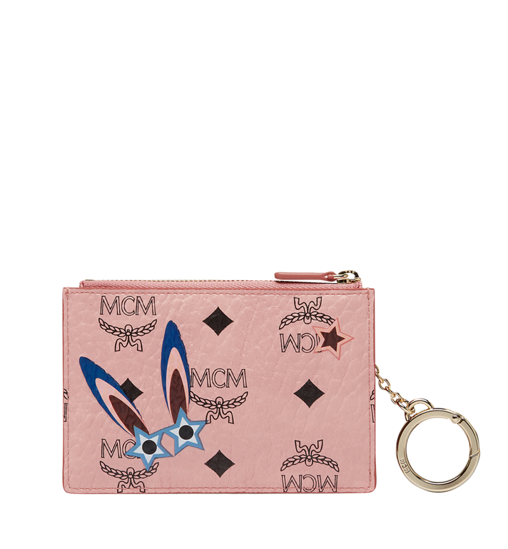 MCM Star Eyed Bunny Keycase in Visetos MYZ8SME06PZ001 AlternateView3