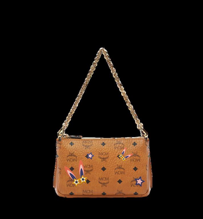MCM Star Eyed Bunny Top Zip Shoulder Bag in Visetos MYZ8SME70CO001 AlternateView