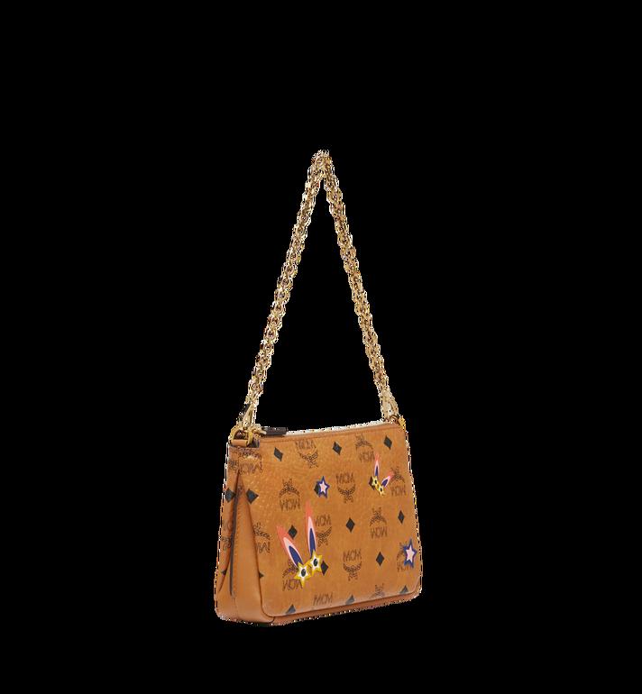 MCM Star Eyed Bunny Top Zip Shoulder Bag in Visetos MYZ8SME70CO001 AlternateView2