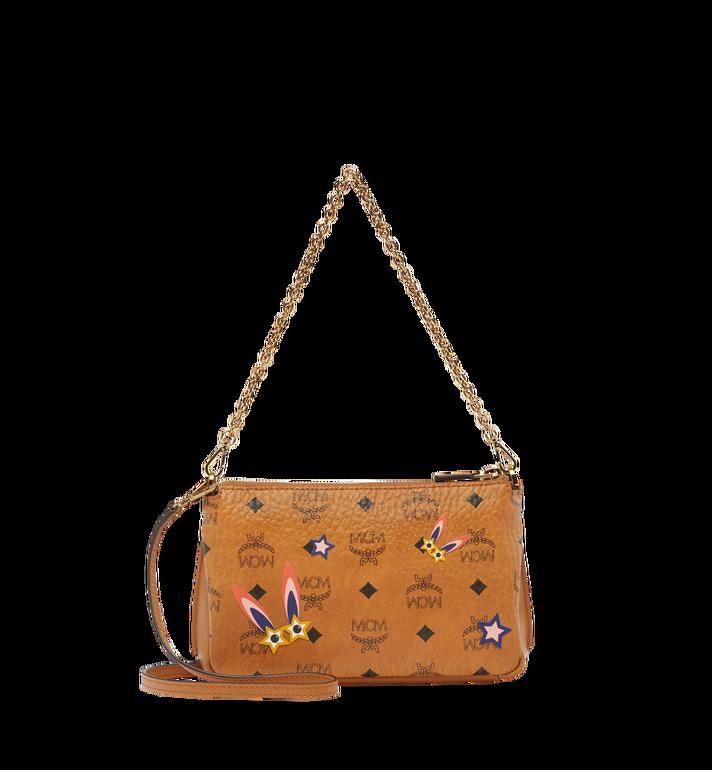 MCM Star Eyed Bunny Top Zip Shoulder Bag in Visetos MYZ8SME70CO001 AlternateView4