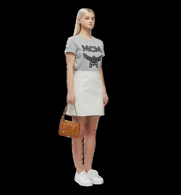 MCM Star Eyed Bunny Top Zip Shoulder Bag in Visetos MYZ8SME70CO001 AlternateView6