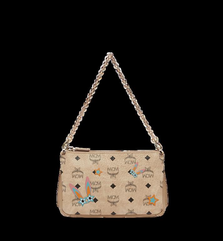MCM Star Eyed Bunny Top Zip Shoulder Bag in Visetos MYZ8SME70IG001 AlternateView