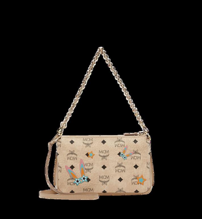 MCM Star Eyed Bunny Top Zip Shoulder Bag in Visetos MYZ8SME70IG001 AlternateView4