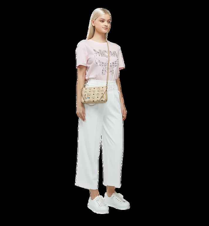 MCM Star Eyed Bunny Top Zip Shoulder Bag in Visetos MYZ8SME70IG001 AlternateView6