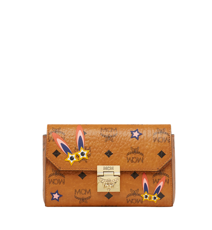 MCM Millie Star Eyed Bunny Flap Crossbody in Visetos AlternateView
