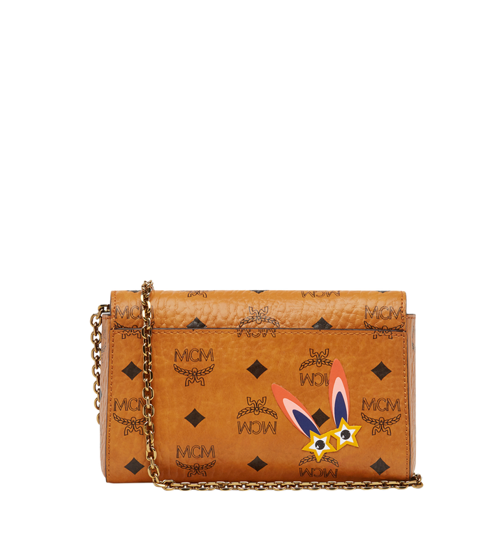 MCM Millie Star Eyed Bunny Flap Crossbody in Visetos AlternateView4