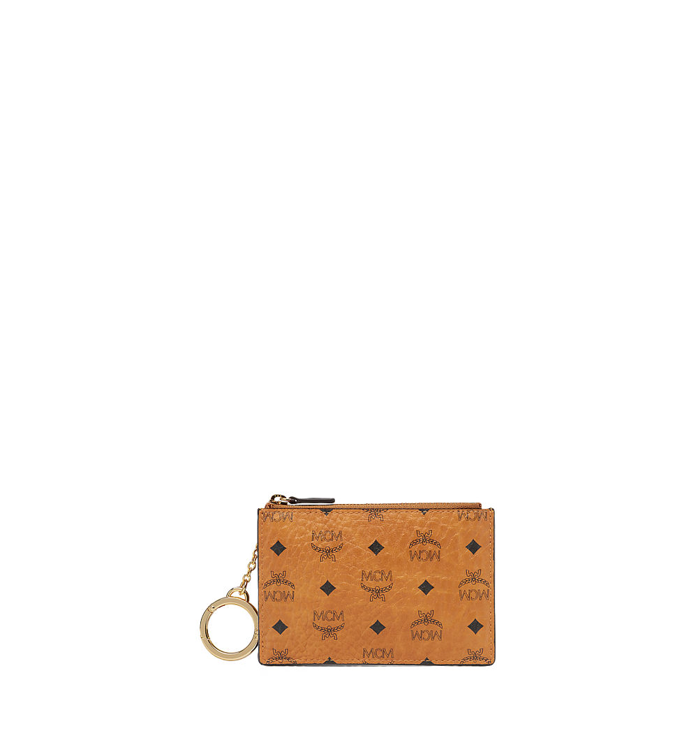 MCM Key Pouch in Visetos Original Cognac MYZ8SVI06CO001 Alternate View 1
