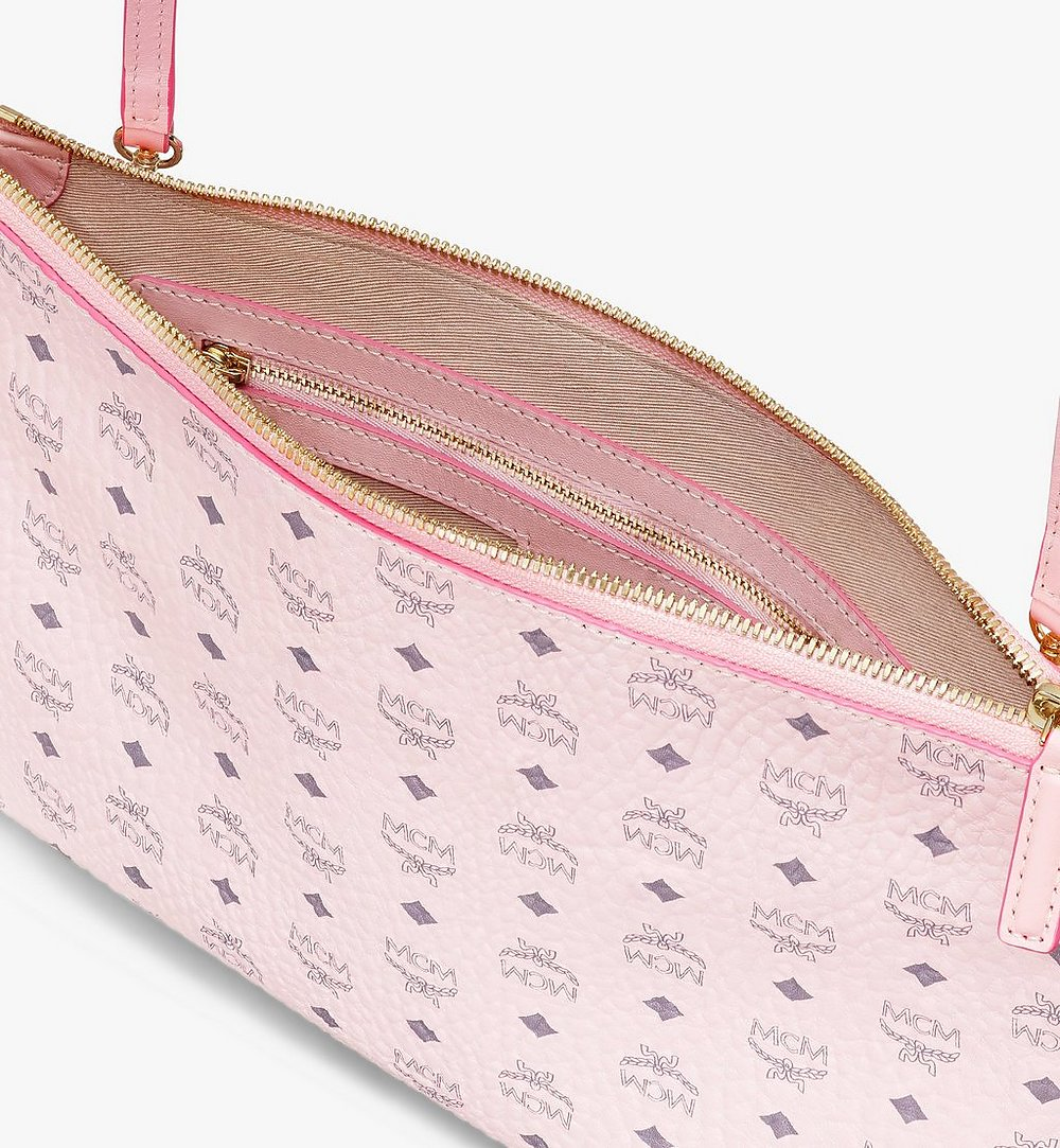 MCM Crossbody Pouch in Visetos Original Pink MYZ8SVI20QH001 Alternate View 2