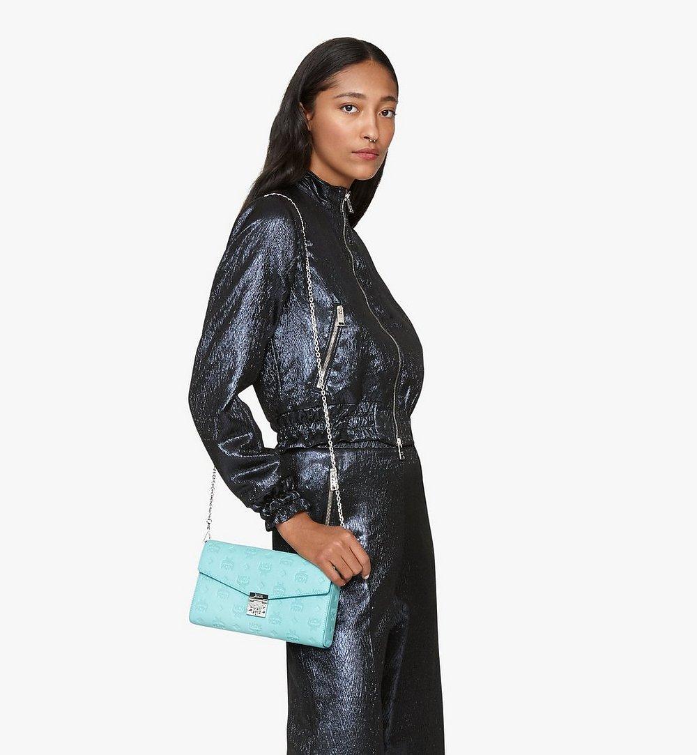 MCM Millie Crossbody in Monogram Leather Blue MYZ9AME12H3001 Alternate View 2
