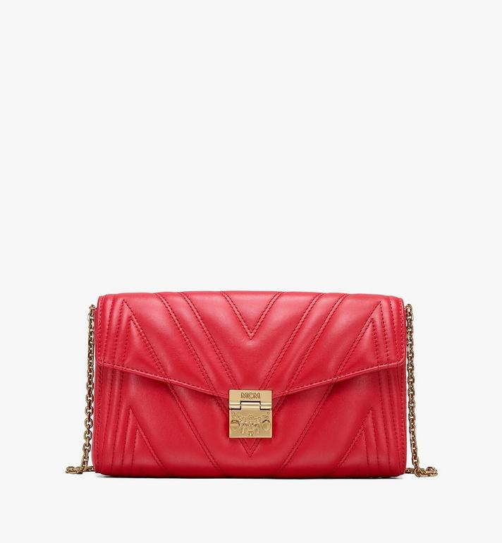 Medium Millie Crossbody Bag In Quilted Leather Ruby Red