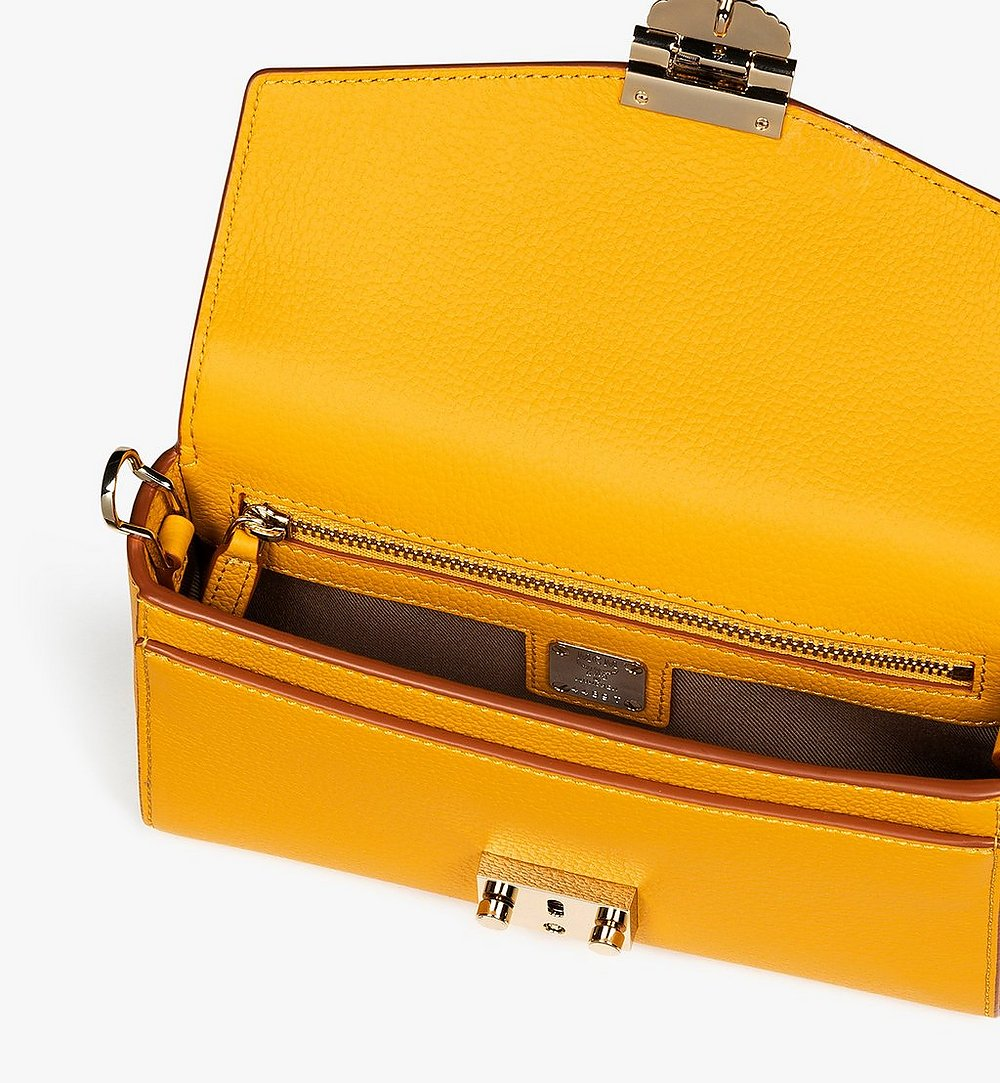 MCM Millie Crossbody in Park Avenue Leather Yellow MYZ9AME50YJ001 Alternate View 4