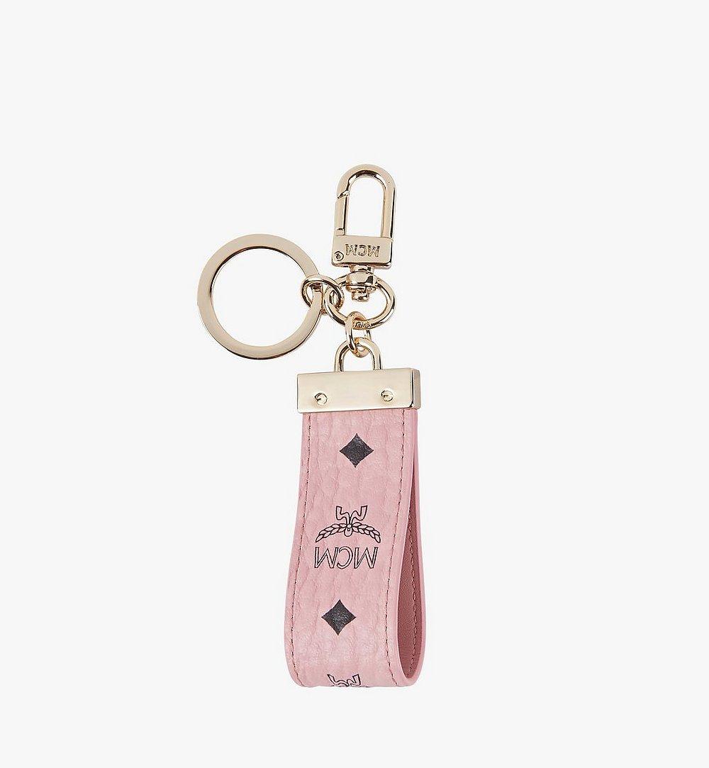 MCM Key Ring in Visetos Pink MYZ9AVI60PZ001 Alternate View 1