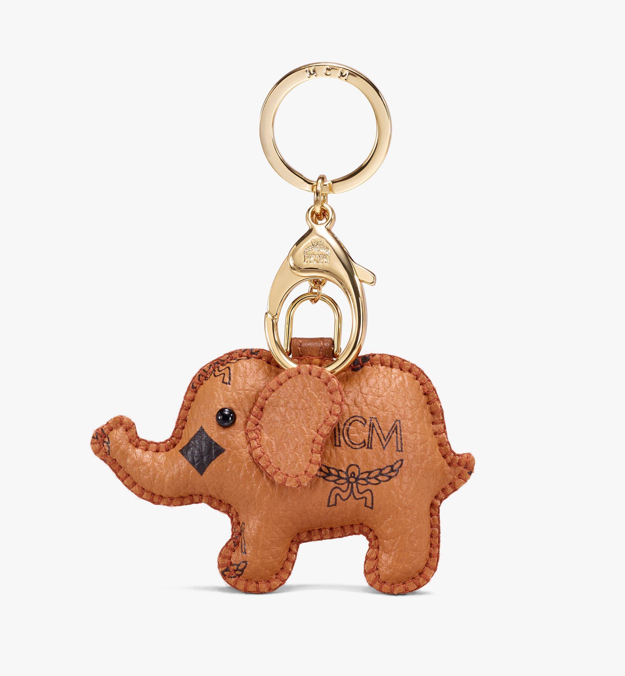 MCM 2D Elephant Charm Cognac MYZ9AXL73CO001 Alternate View 1