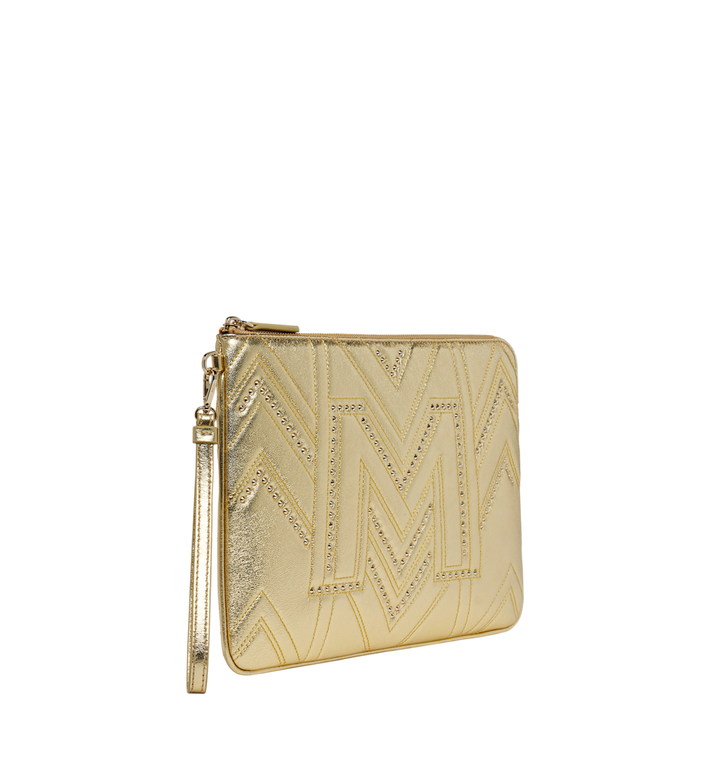 MCM Wristlet Zip Pouch in Quilted Studs Alternate View 2