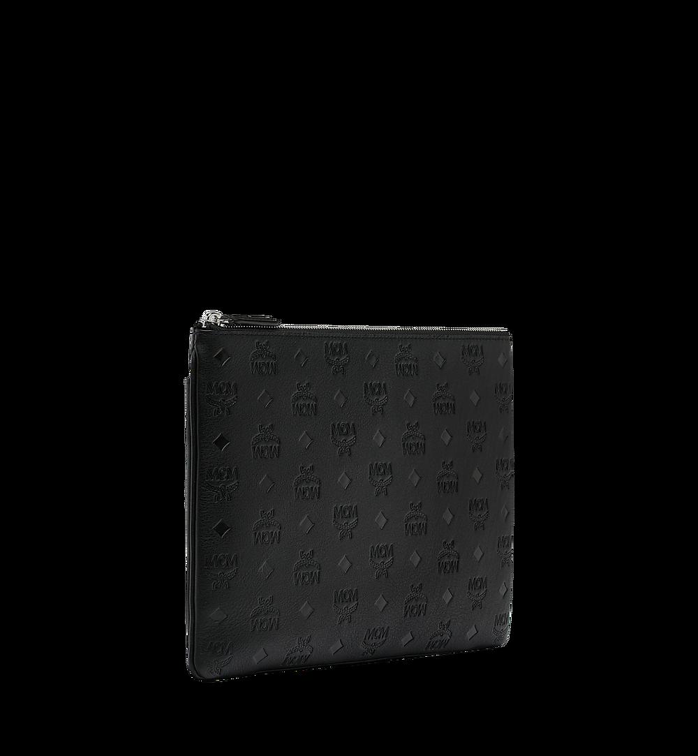 MCM Crossbody Pouch in Monogram Leather Black MYZ9SKM42BK001 Alternate View 1