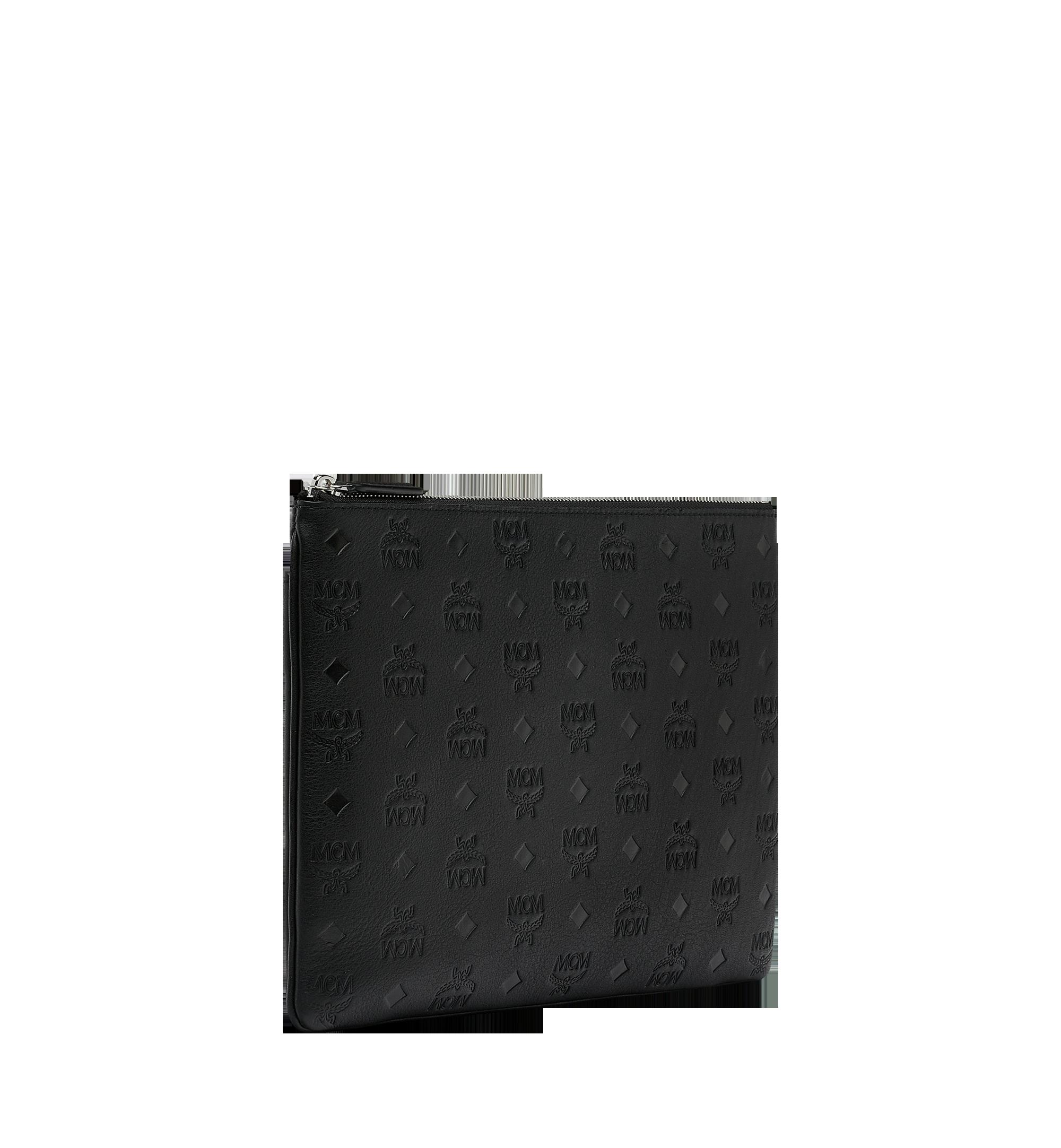 MCM Crossbody Pouch in Monogram Leather Black MYZ9SKM42BK001 Alternate View 2
