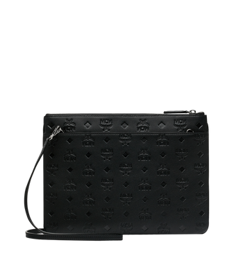 MCM Crossbody Pouch in Monogram Leather AlternateView3