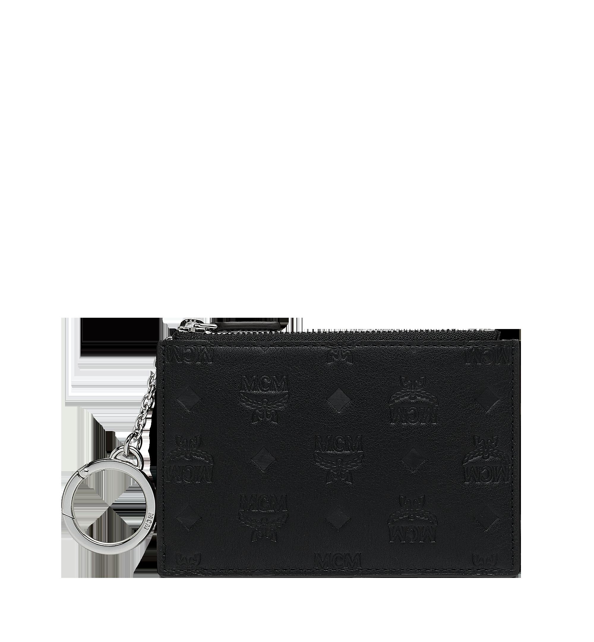 Key Pouch In Monogram Leather in Bk