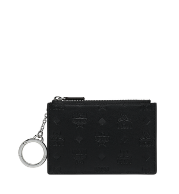 MCM Key Pouch in Monogram Leather Alternate View