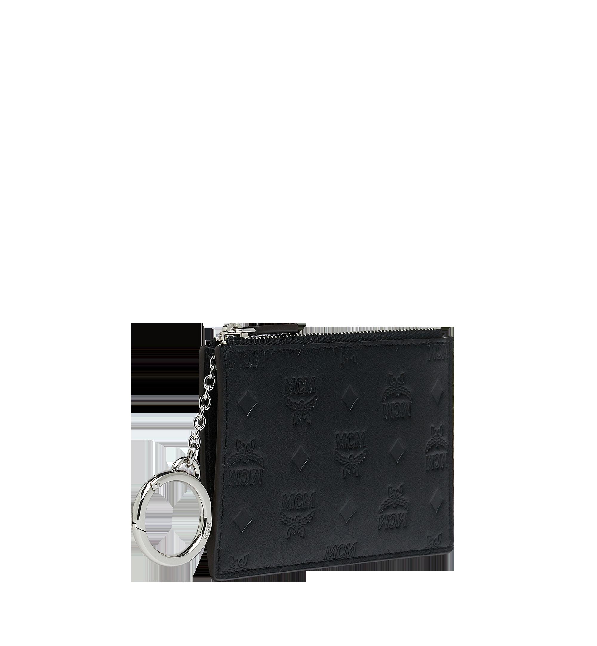 MCM Key Pouch in Monogram Leather Black MYZ9SKM44BK001 Alternate View 2
