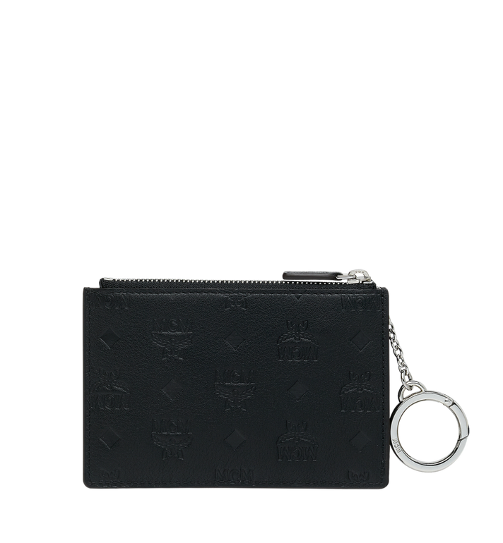 MCM Key Pouch in Monogram Leather Black MYZ9SKM44BK001 Alternate View 3