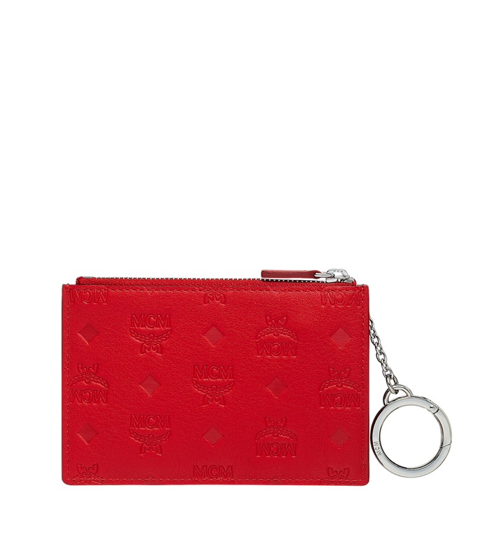 MCM Key Pouch in Monogram Leather AlternateView3