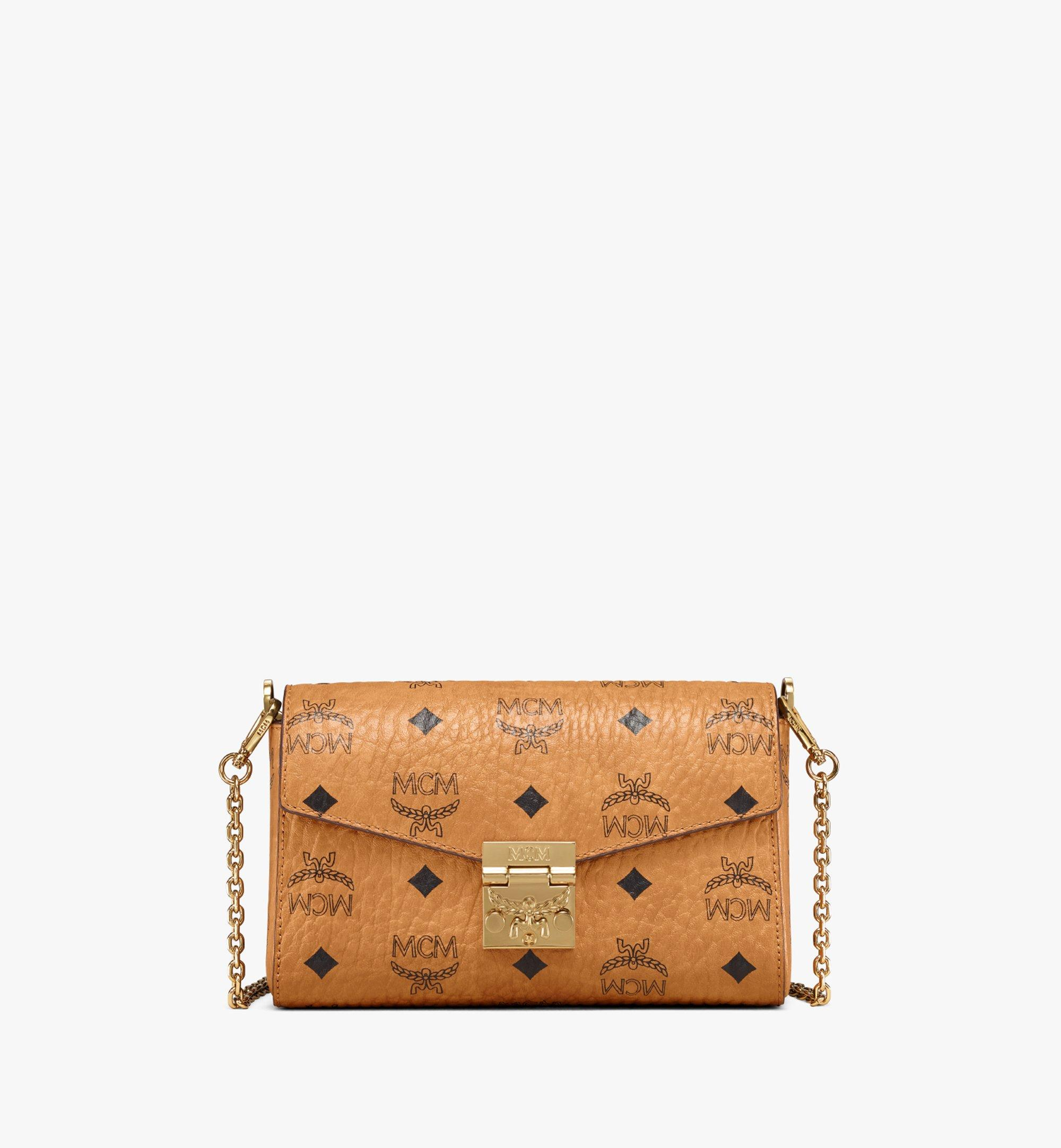 MCM Millie Flap Crossbody in Visetos Cognac MYZ9SME04CO001 Alternate View 1
