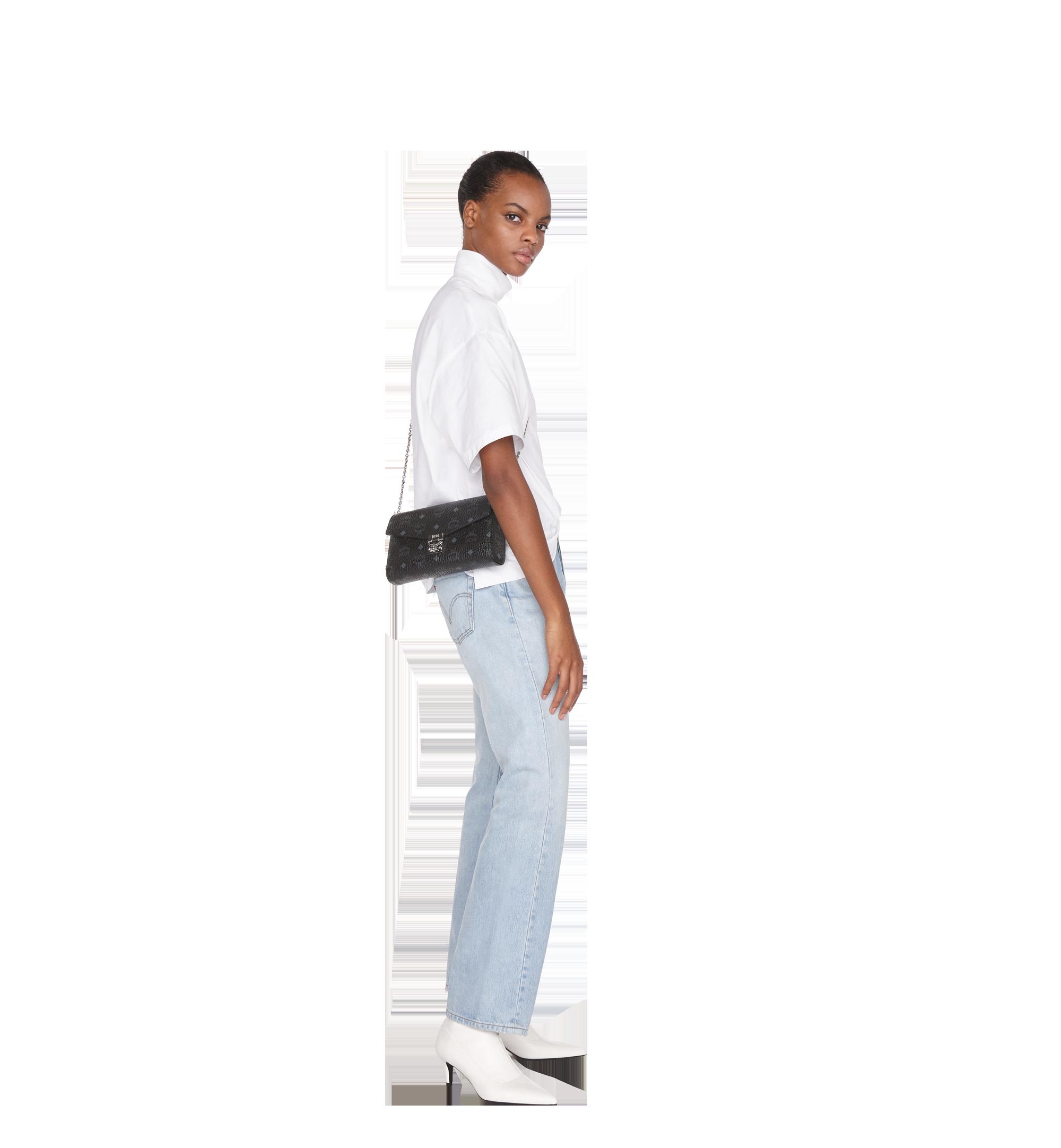 MCM Millie Flap Crossbody in Visetos Black MYZ9SME05BK001 Alternate View 2