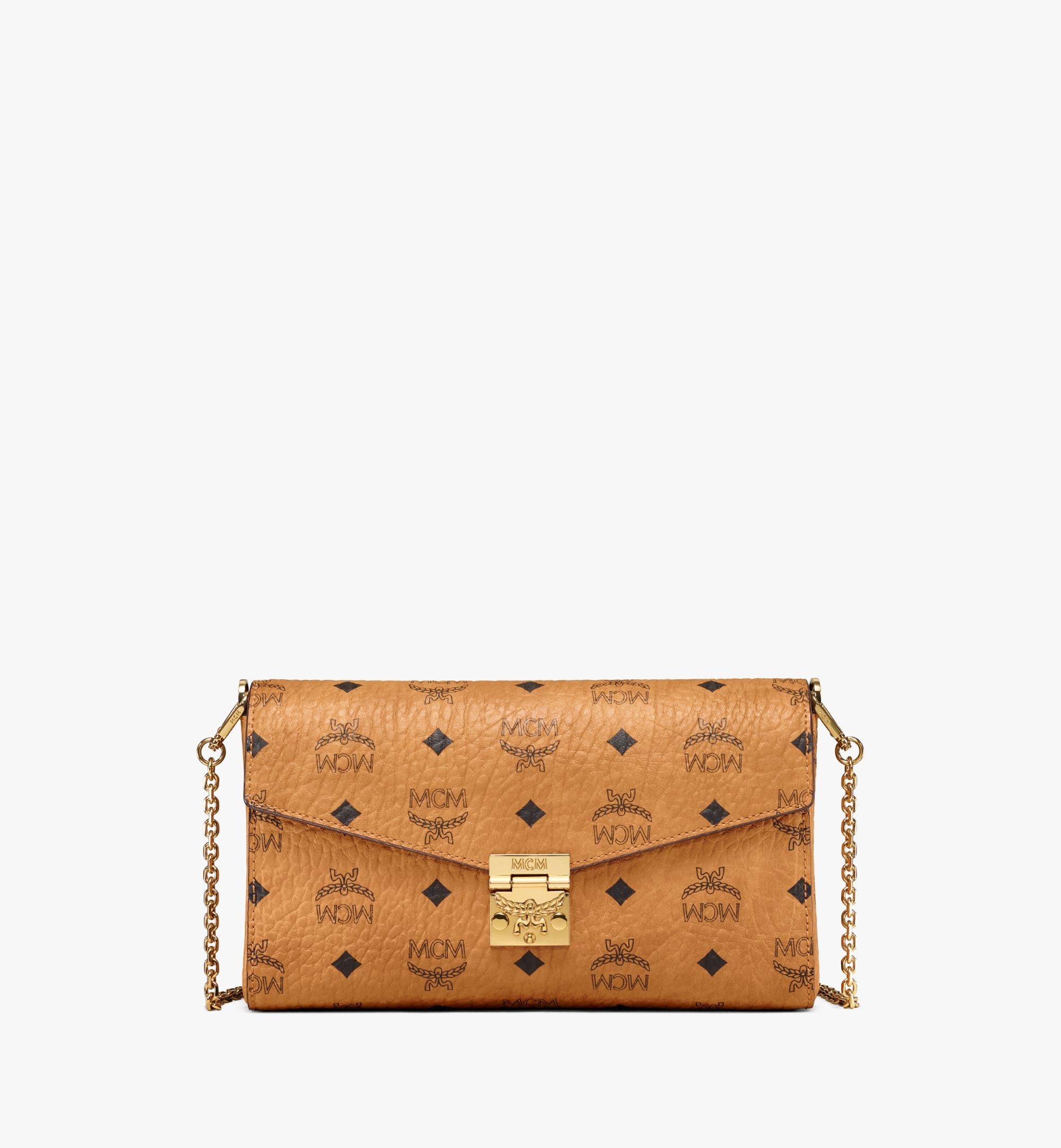 Medium Millie Flap Crossbody Tasche in Visetos Cognac | MCM® DE