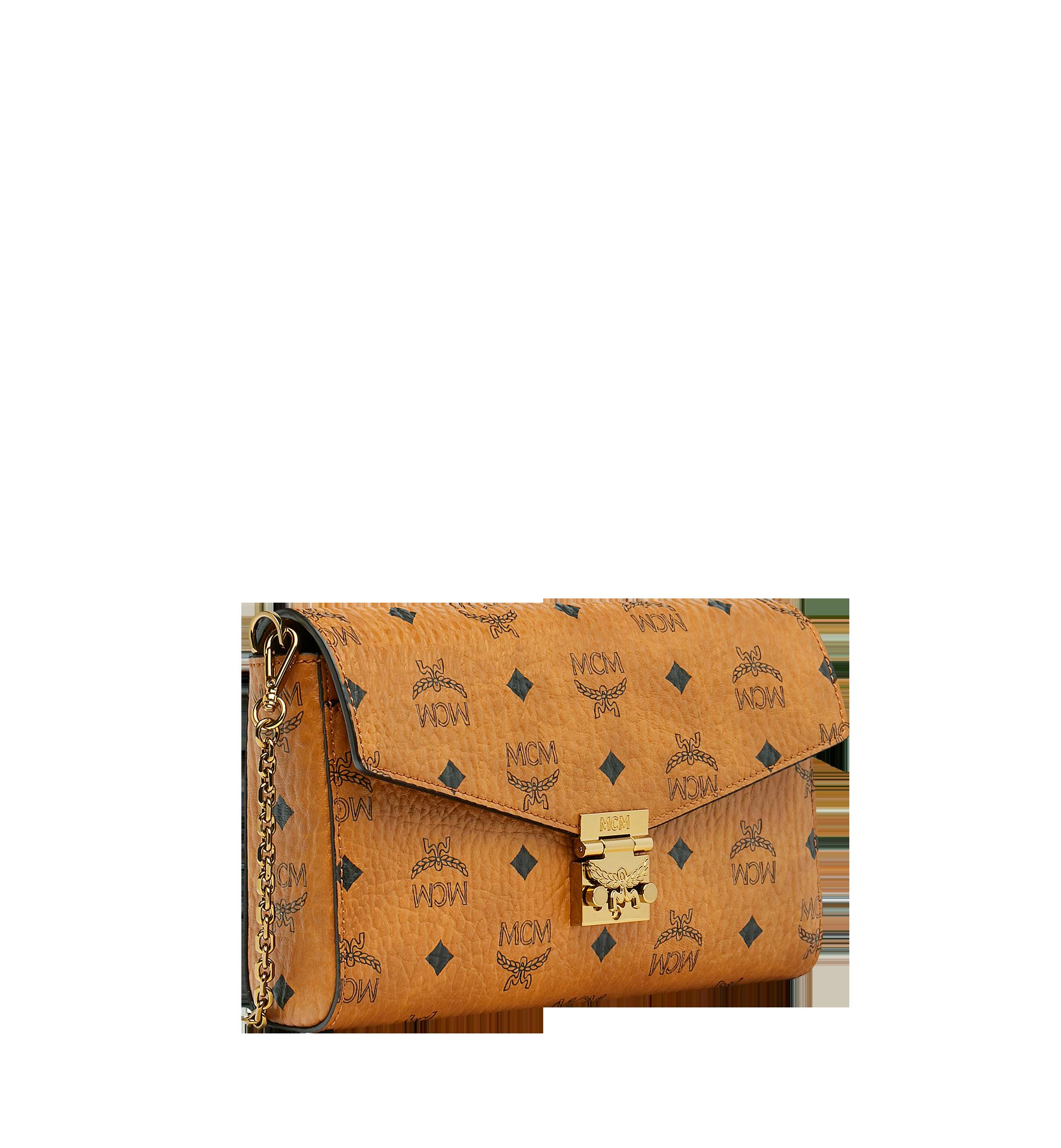 Medium Millie Flap Crossbody Tasche in Visetos Cognac   MCM® DE