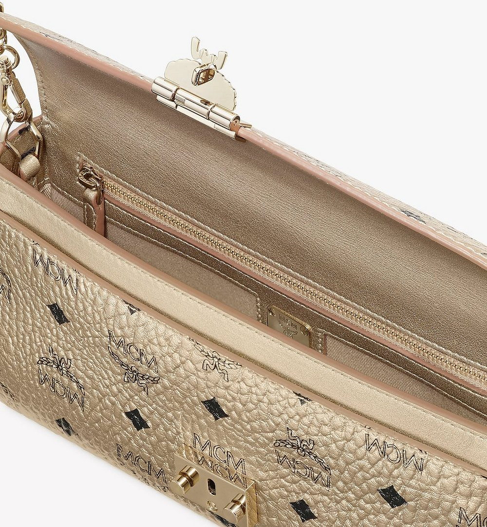 MCM Millie Crossbody in Visetos Gold MYZ9SME05T1001 Alternate View 2