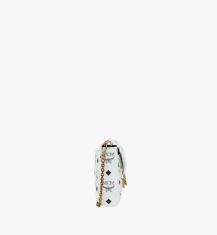 MCM Sac à bandoulière avec rabat Millie en Visetos White MYZ9SME05WT001 Alternate View 3
