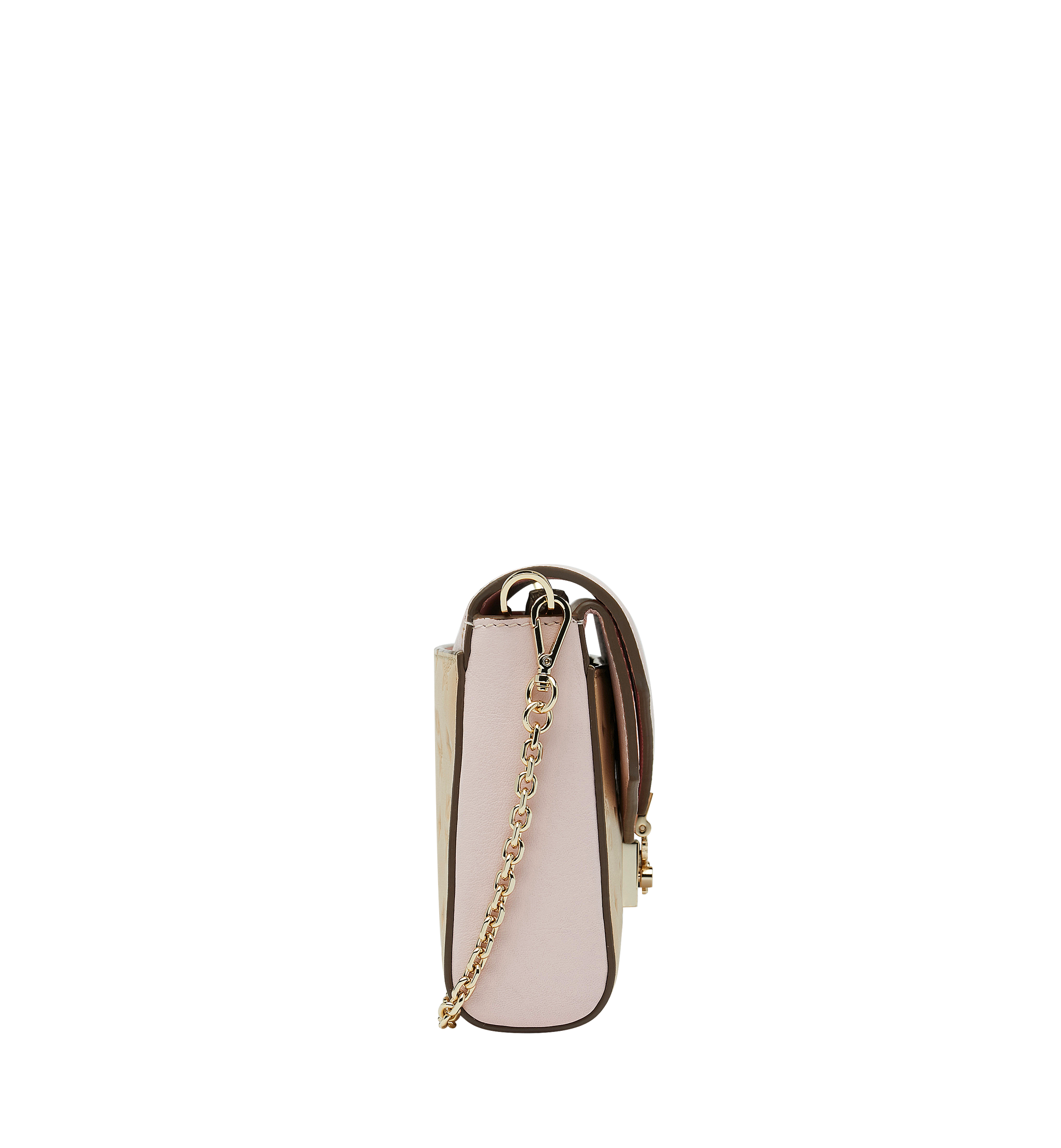 Medium Millie Flap Crossbody in Monogram Leather Latte Beige
