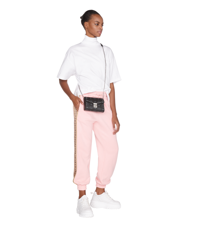 MCM Millie Flap Crossbody in Studded Outline Visetos Black MYZ9SME25BK001 Alternate View 6