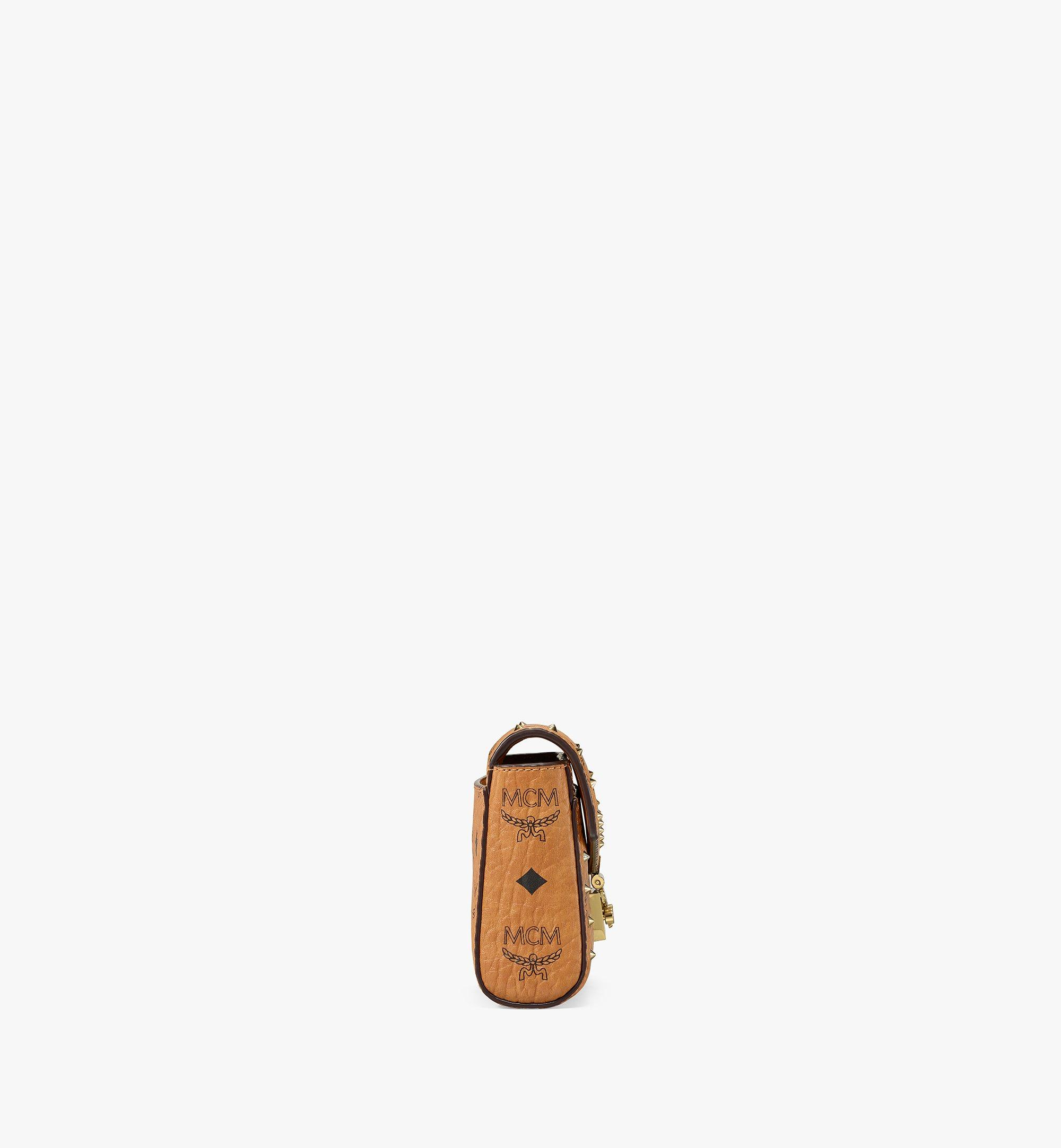 MCM Millie Flap Crossbody in Studded Outline Visetos Cognac MYZ9SME25CO001 Alternate View 2