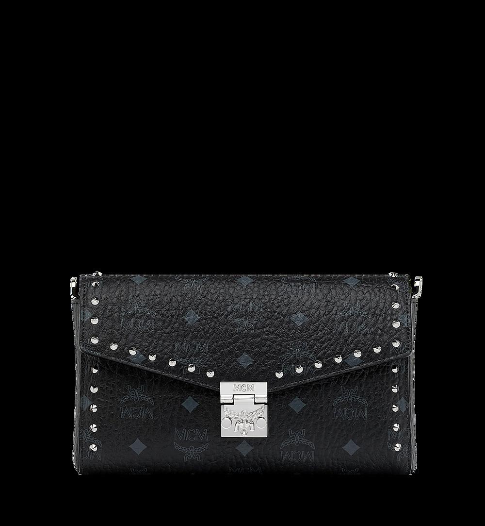 MCM Millie Flap Crossbody in Studded Outline Visetos Black MYZ9SME26BK001 Alternate View 1