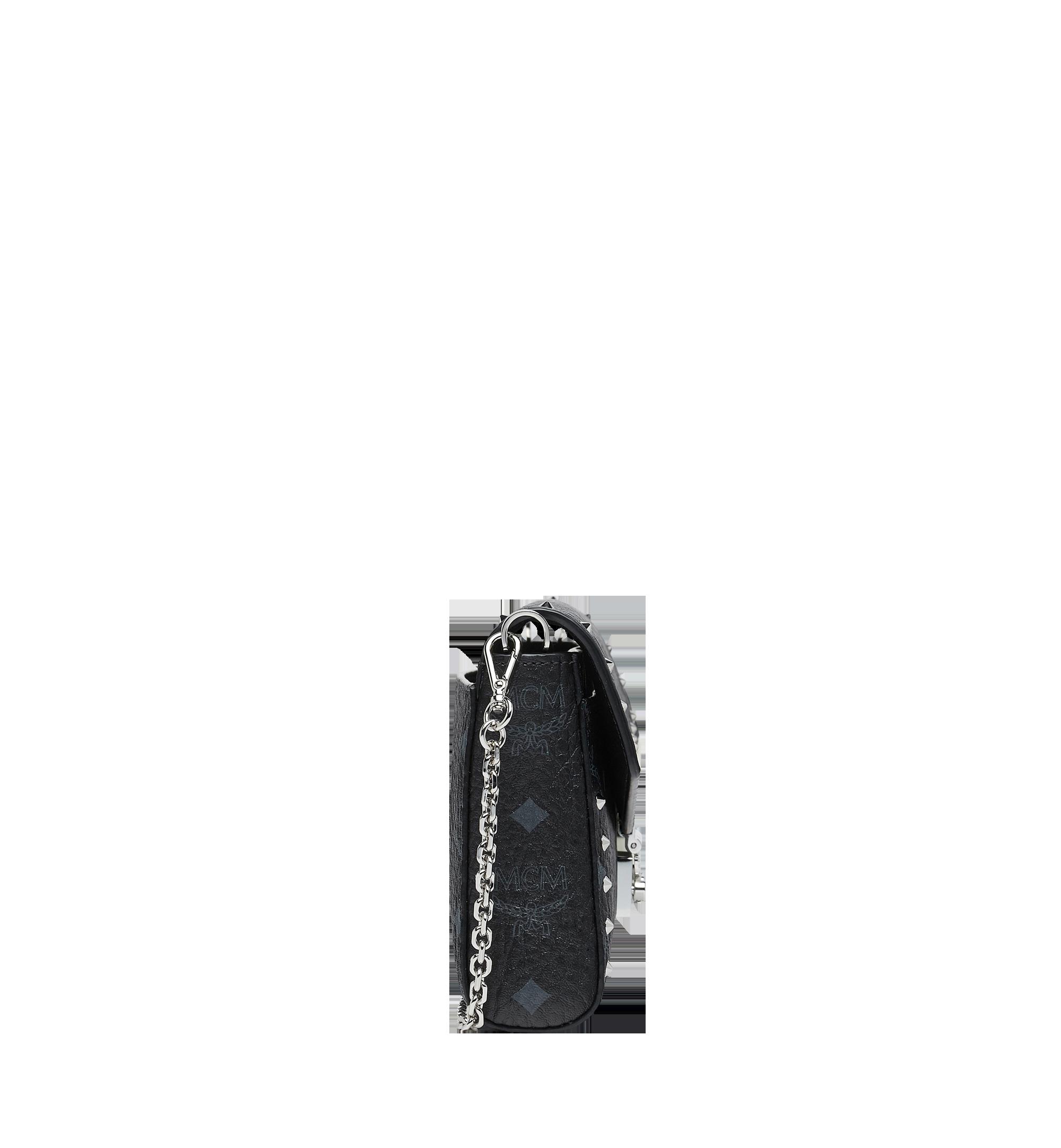 MCM 밀리 스터디드 아웃라인 비세토스 플랩 크로스바디 Black MYZ9SME26BK001 Alternate View 3