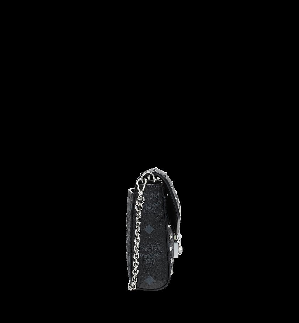 MCM Millie Flap Crossbody in Studded Outline Visetos Black MYZ9SME26BK001 Alternate View 2