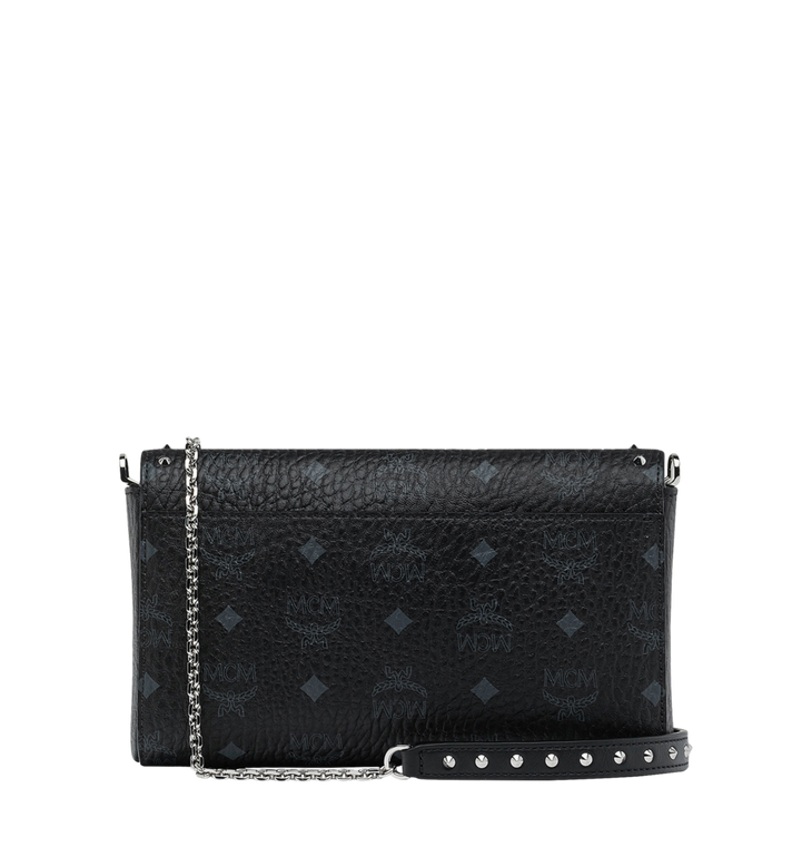 MCM Millie Flap Crossbody in Studded Outline Visetos Black MYZ9SME26BK001 Alternate View 4
