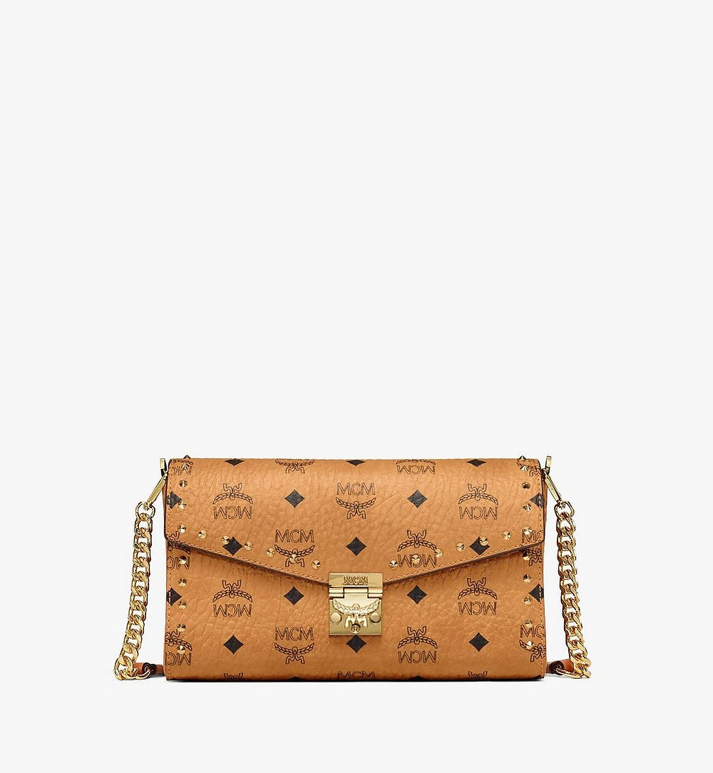 MCM Millie Flap Crossbody in Studded Outline Visetos Cognac MYZ9SME26CO001 Alternate View 1
