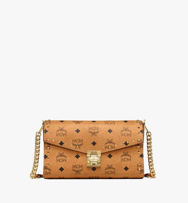 MCM Millie Flap Crossbody in Studded Outline Visetos Alternate View