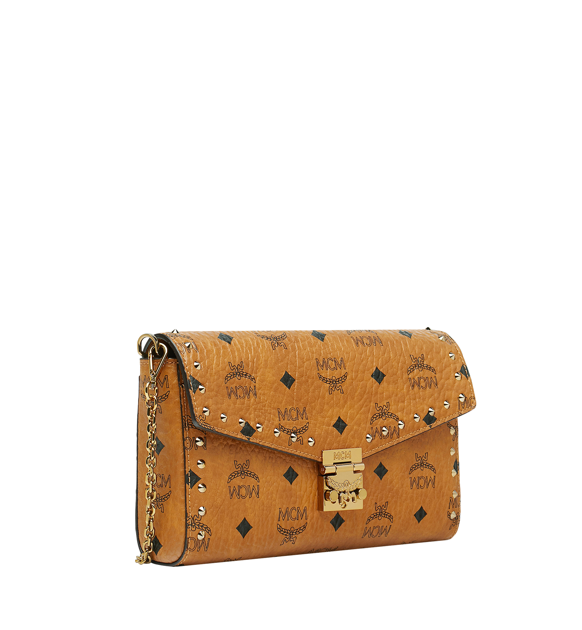 Medium Millie Crossbody in Visetos mit Nieten Cognac | MCM® DE