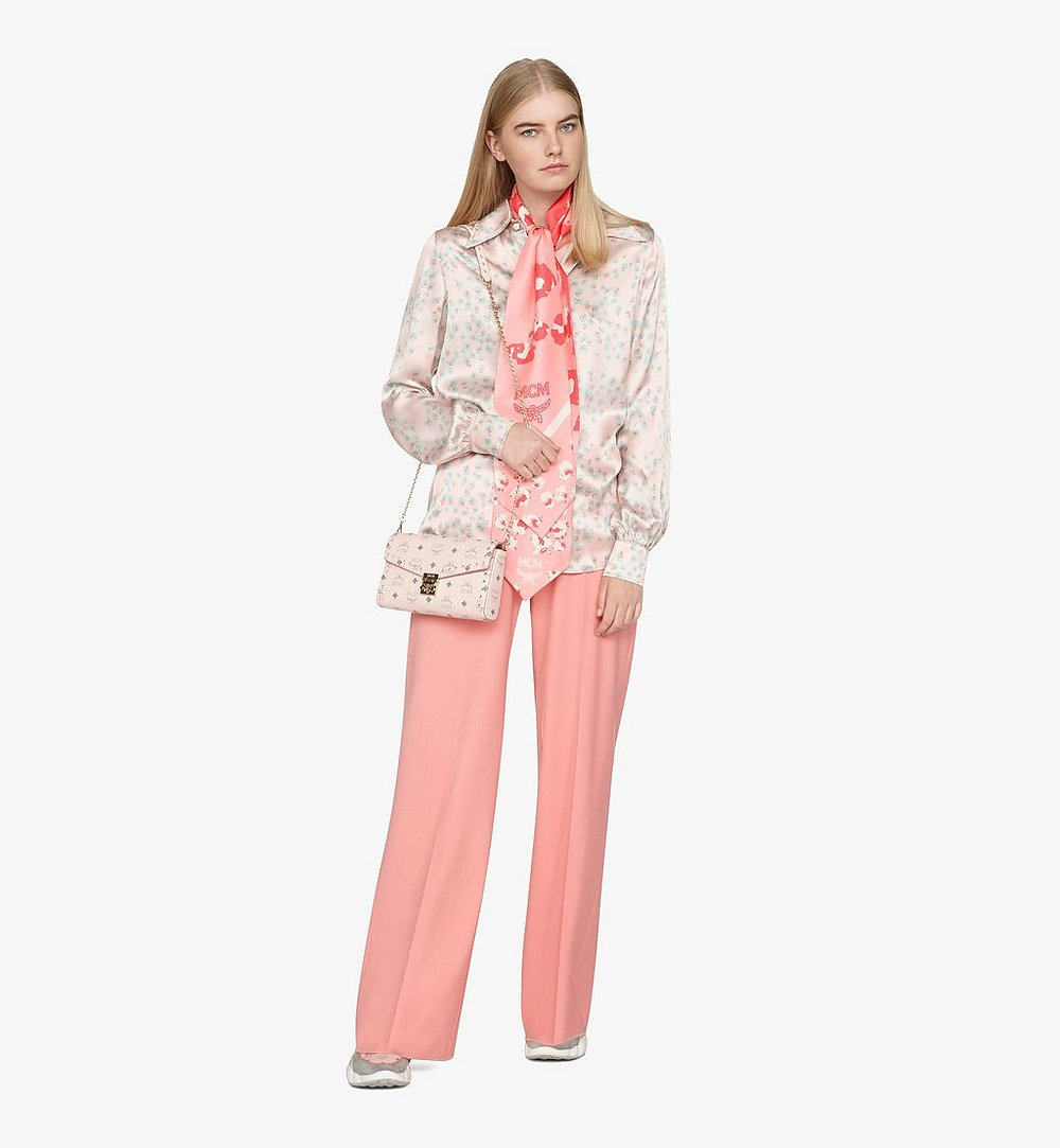 MCM Millie Crossbody in Studded Visetos Pink MYZ9SME26QH001 Alternate View 2